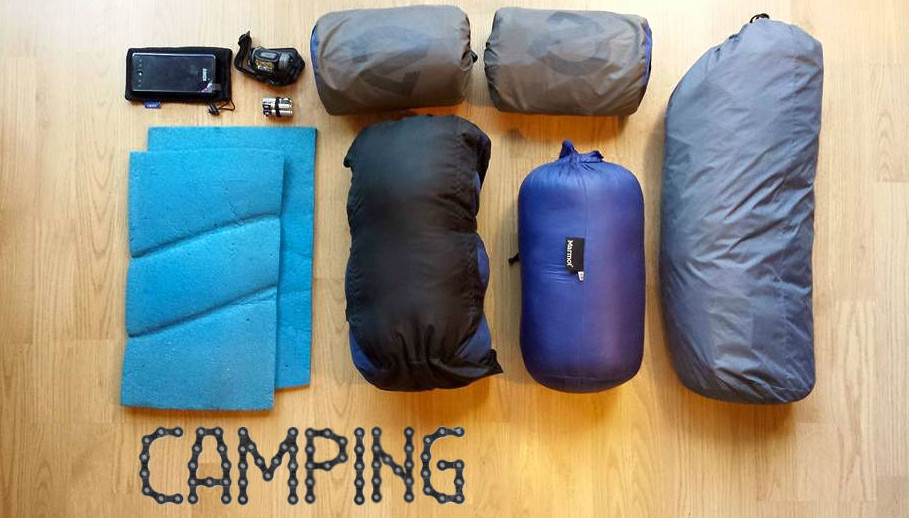 PCH Bike Tour camping gear