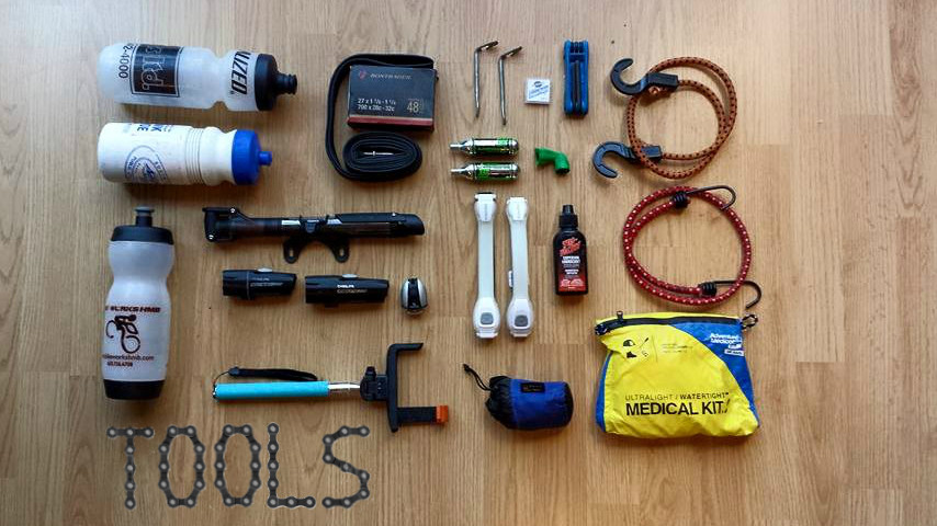 PCH Bike Tour Parts and Tools